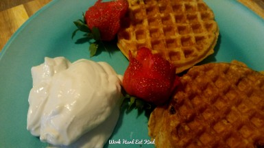 kite hill yogurt and waffles