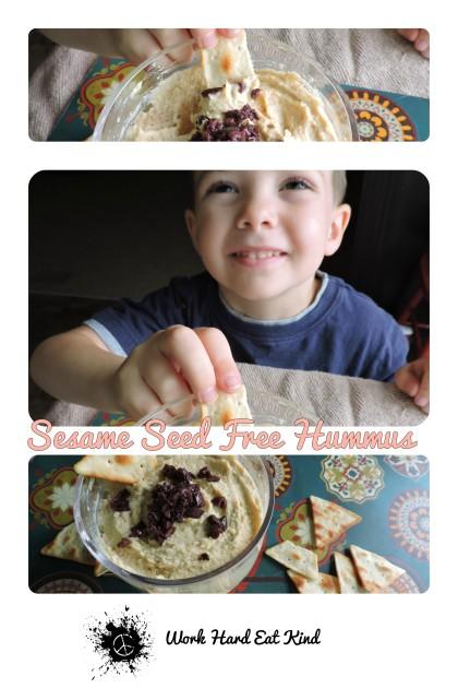 Sesame Seed Free Hummus Pinterest Image