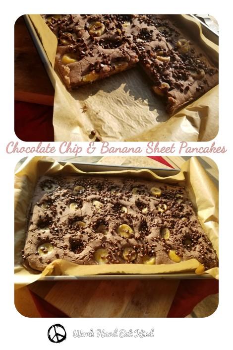 Chocolate Chip & Banana Sheet Pancake Pinterest Image