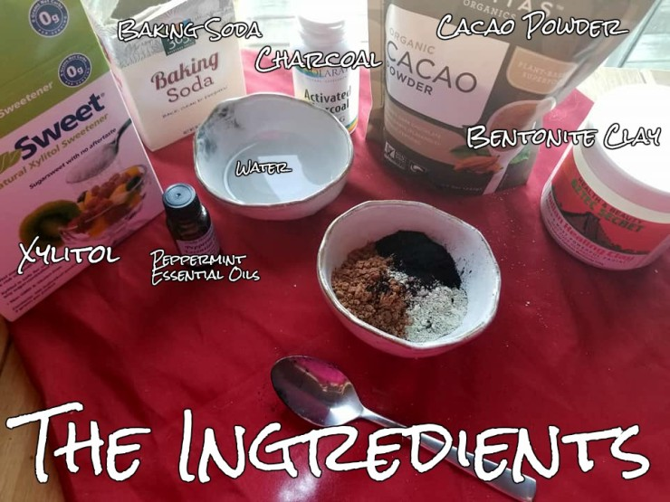 the ingredients for the homemade toothpaste (2)
